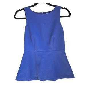 Blue peplum top - great for work!